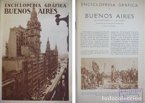 """CALCAÑO, EDMUNDO T. BUENOS AIRES. 1930 (""""ENCICLOPEDIA GRÁFICA""""). (Libros Antiguos, Raros y Curiosos - Bellas artes, ocio y coleccion - Diseño y Fotografía)"""