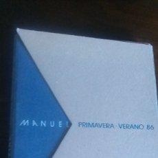 Libros antiguos: MANUEL PIÑA PRIMAVERA VERANO 86 CONSISTE EN LÁMINAS DE FOTOGRAFIAS. Lote 179118487