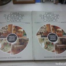 Libros antiguos: GRAN ENCICLOPÈDIA DE TRABAJOS CASEROS VOLUMRN I Y II. Lote 187423781