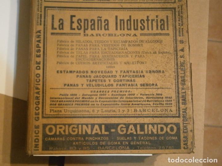 Libros antiguos: ANUARIO GENERAL DE ESPAÑA 1931¡TOMO 2¡¡BARCELONA-CORUÑA,UNICO EN TC - Foto 3 - 188518791