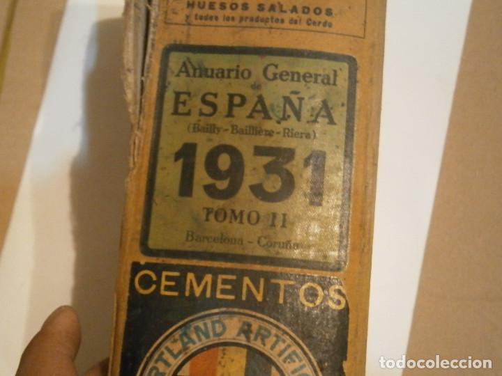 Libros antiguos: ANUARIO GENERAL DE ESPAÑA 1931¡TOMO 2¡¡BARCELONA-CORUÑA,UNICO EN TC - Foto 5 - 188518791
