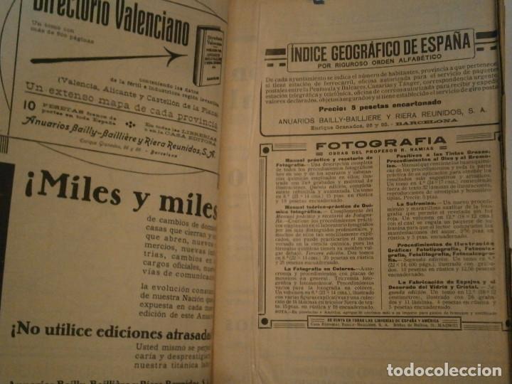 Libros antiguos: ANUARIO GENERAL DE ESPAÑA 1931¡TOMO 2¡¡BARCELONA-CORUÑA,UNICO EN TC - Foto 16 - 188518791