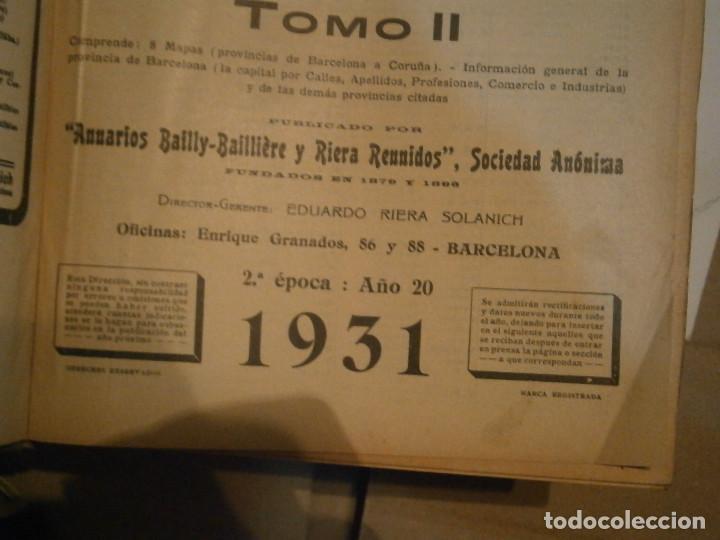 Libros antiguos: ANUARIO GENERAL DE ESPAÑA 1931¡TOMO 2¡¡BARCELONA-CORUÑA,UNICO EN TC - Foto 17 - 188518791