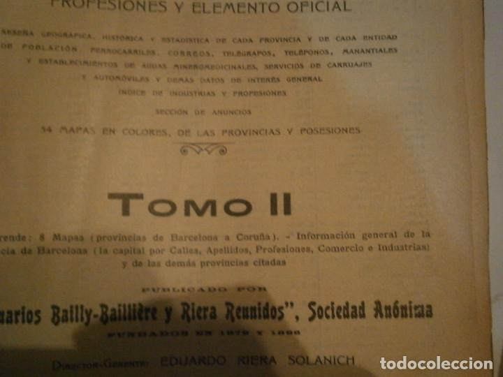 Libros antiguos: ANUARIO GENERAL DE ESPAÑA 1931¡TOMO 2¡¡BARCELONA-CORUÑA,UNICO EN TC - Foto 18 - 188518791