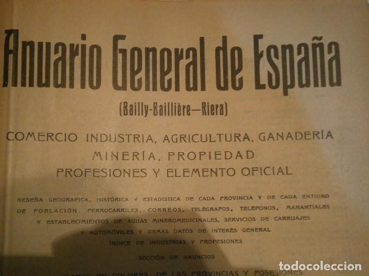 Libros antiguos: ANUARIO GENERAL DE ESPAÑA 1931¡TOMO 2¡¡BARCELONA-CORUÑA,UNICO EN TC - Foto 19 - 188518791