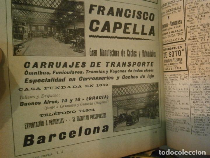 Libros antiguos: ANUARIO GENERAL DE ESPAÑA 1931¡TOMO 2¡¡BARCELONA-CORUÑA,UNICO EN TC - Foto 39 - 188518791