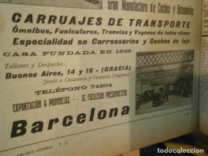 Libros antiguos: ANUARIO GENERAL DE ESPAÑA 1931¡TOMO 2¡¡BARCELONA-CORUÑA,UNICO EN TC - Foto 40 - 188518791