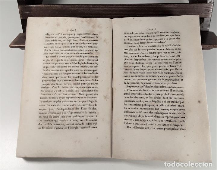 Libros antiguos: ESQUISSE DUN TABLEAU HISTORIQUE DES PROGRÈS DE LESPRIT HUMAIN. CONDORCET. PARÍS. 1822. - Foto 7 - 189094383