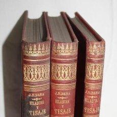 Libros antiguos: HILADURA Y TISAJE. TRATADO TEÓRICO DE HILADOS POR D. JOAQUIN RIBERA 3 TOMOS 1891. Lote 191059596