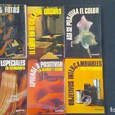 Libros antiguos: 6 LIBROS FOTOGRAFIA - EDITORIAL DAIMON NUEVOS (UNO PRECINTADO). Lote 196845071