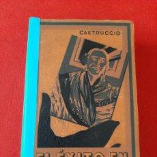 Libros antiguos: EL ÉXITO EN FOTOGRAFIA.MANUAL TEORICO-PRACTICO DE FOTOGRAFIA J.CASTRUCCIO 1 EDICIÓN LIBRO FOTOGRAFÍA. Lote 178056213