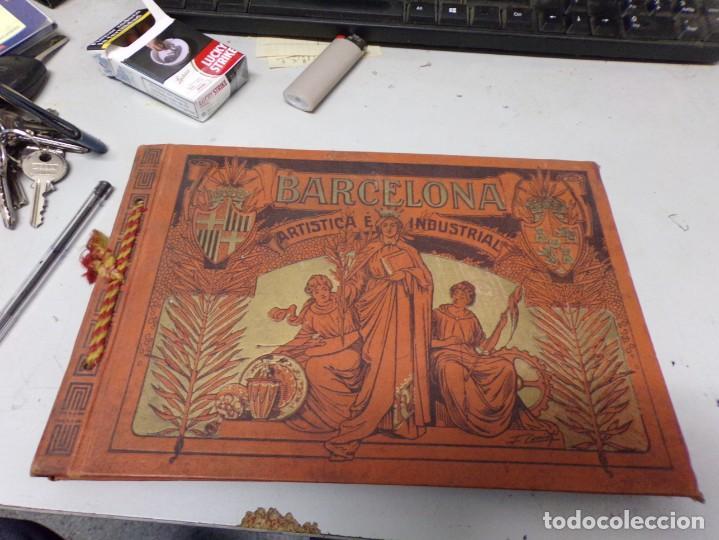 LUJOSO ALBUM FOTOGRAFIA BARCELONA ARTISTICA E INDUSTRIAL DE 1915 (Libros Antiguos, Raros y Curiosos - Bellas artes, ocio y coleccion - Diseño y Fotografía)
