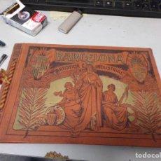 Libros antiguos: LUJOSO ALBUM FOTOGRAFIA BARCELONA ARTISTICA E INDUSTRIAL DE 1915. Lote 205703277