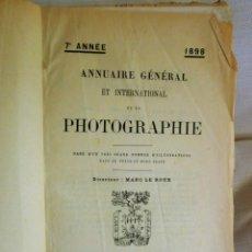 Livros antigos: ANNUAIRE GÉNÉRAL INTERNATIONAL DE LA PHOTOGRAPHIE-1898-GRAND NOMBRE D´ILLUSTRATIONS-LIBR PLON-PARIS. Lote 207740412