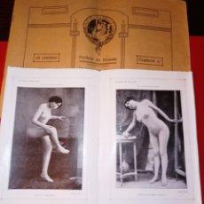 Livros antigos: PORTFOLIO DEL DENUDO - AÑO 1900 - FOTOGRAFIA EROTICA DE LA EPOCA DE MODELOS Y CUADROS. Lote 208928406