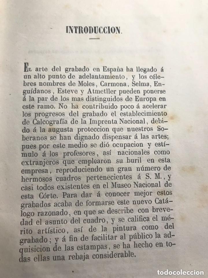 Libros antiguos: Catálogo de las mejores estampas que se hayan en venta en la calcografia de la imprenta nacional - Foto 2 - 209237356