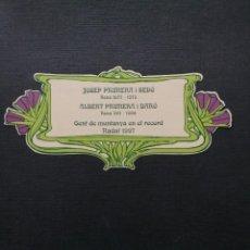 Livros antigos: JOSEP PRUNERA I SEDÓ,..., GENT DE MUNTANYA EN EL RECORD. Lote 210805254
