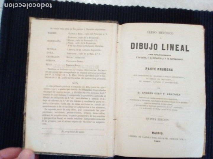 CURSO METODICO DE DIBUJO LINEAL. PARTE PRIMERA. ANDRES GIRO Y ARANOLS. MADRID 1865. (Libros Antiguos, Raros y Curiosos - Bellas artes, ocio y coleccion - Diseño y Fotografía)