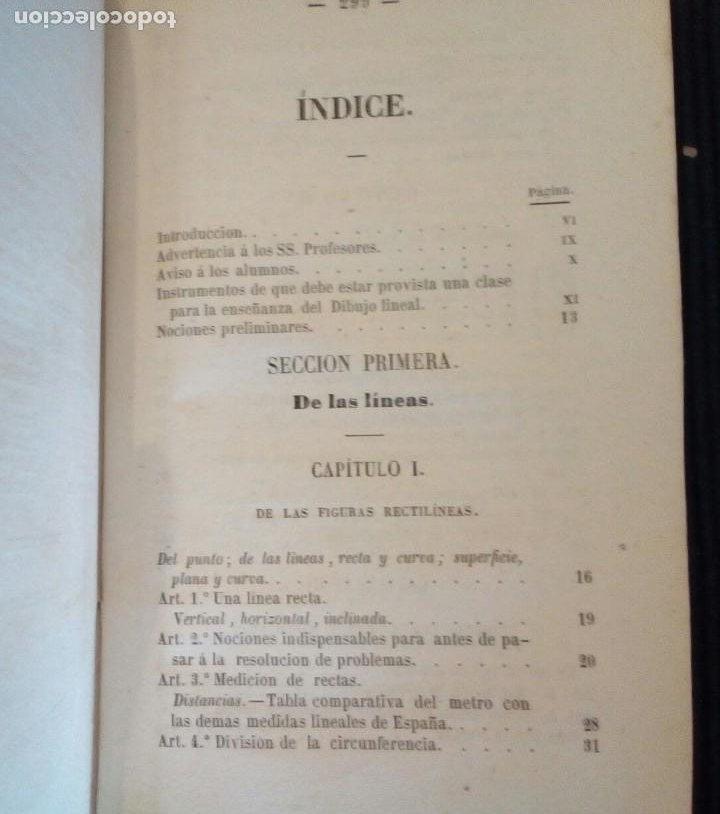 Libros antiguos: CURSO METODICO DE DIBUJO LINEAL. PARTE PRIMERA. ANDRES GIRO Y ARANOLS. MADRID 1865. - Foto 2 - 212537713
