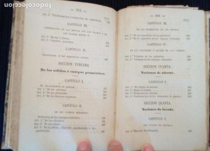 Libros antiguos: CURSO METODICO DE DIBUJO LINEAL. PARTE PRIMERA. ANDRES GIRO Y ARANOLS. MADRID 1865. - Foto 5 - 212537713