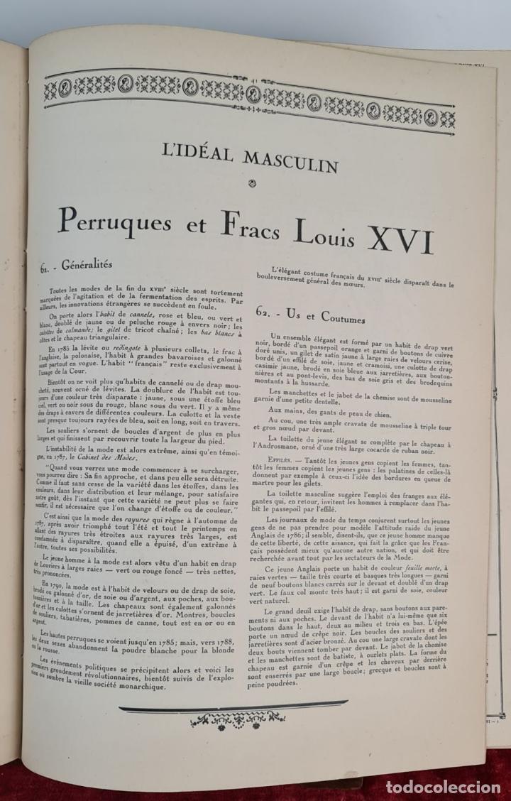 Libros antiguos: HISTOIRE DU COSTUME MASCULIN FRANÇAIS. PAUL LOUIS. EDIT. NILSSON. 1927. - Foto 5 - 212587021