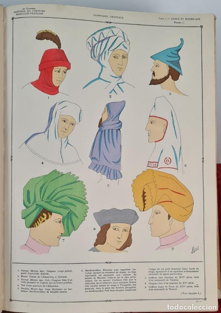 Libros antiguos: HISTOIRE DU COSTUME MASCULIN FRANÇAIS. PAUL LOUIS. EDIT. NILSSON. 1927. - Foto 7 - 212587021