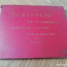 Libros antiguos: PORTFOLIO DE FOTOGRAFIAS DE CIUDADES, PAISAJES Y CUADROS CELEBRES DE TODOS LOS PAÍSES DEL MUNDO.. Lote 216885351