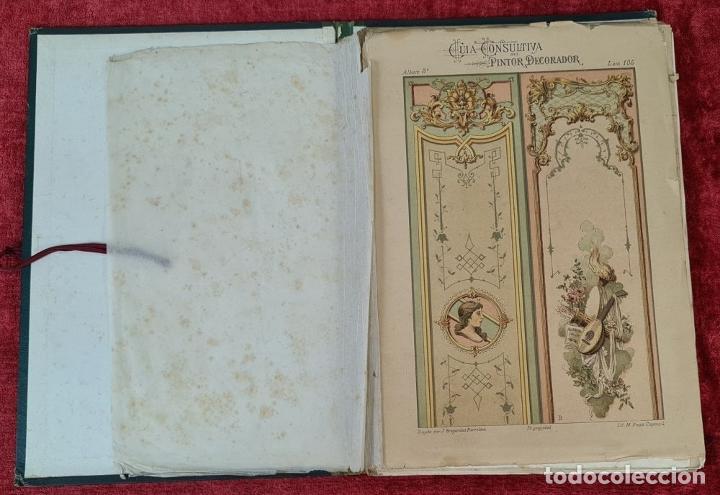Libros antiguos: GUIA CONSULTIVA DEL PINTOR DECORADOR. J. BRUGAROLAS SIVILLA. SIGLO XIX. - Foto 3 - 221748215