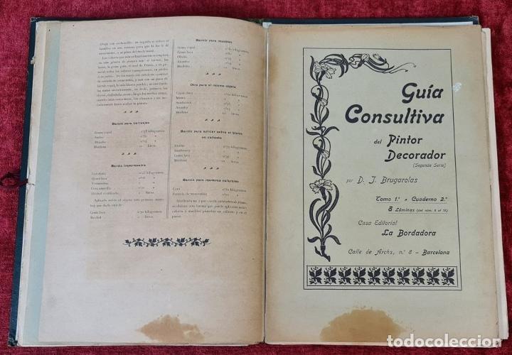 Libros antiguos: GUIA CONSULTIVA DEL PINTOR DECORADOR. J. BRUGAROLAS SIVILLA. SIGLO XIX. - Foto 5 - 221748215