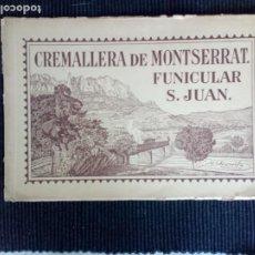 Libros antiguos: CREMALLERA DE MONTSERRAT. FUNICULAR S. JUAN. JERKOWITZ. HUECOGRABADO. 192?. Lote 226222280