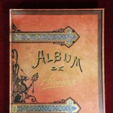 Libros antiguos: HISTORIA DE UNA MUJER ALBUM CINCUENTA 50 CROMOS D.EUSEBIO PLANAS BARCELONA 1881 BELLA ENCUADERNACION. Lote 226832255