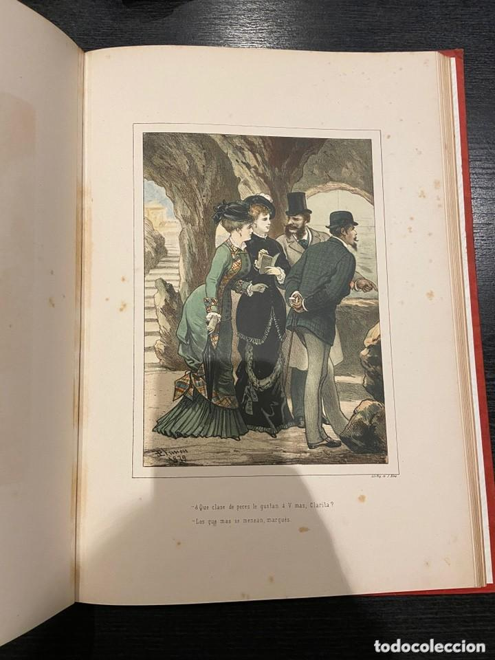 Libros antiguos: HISTORIA DE UNA MUJER Album cincuenta 50 cromos D.Eusebio Planas Barcelona 1881 Bella encuadernacion - Foto 16 - 226832255