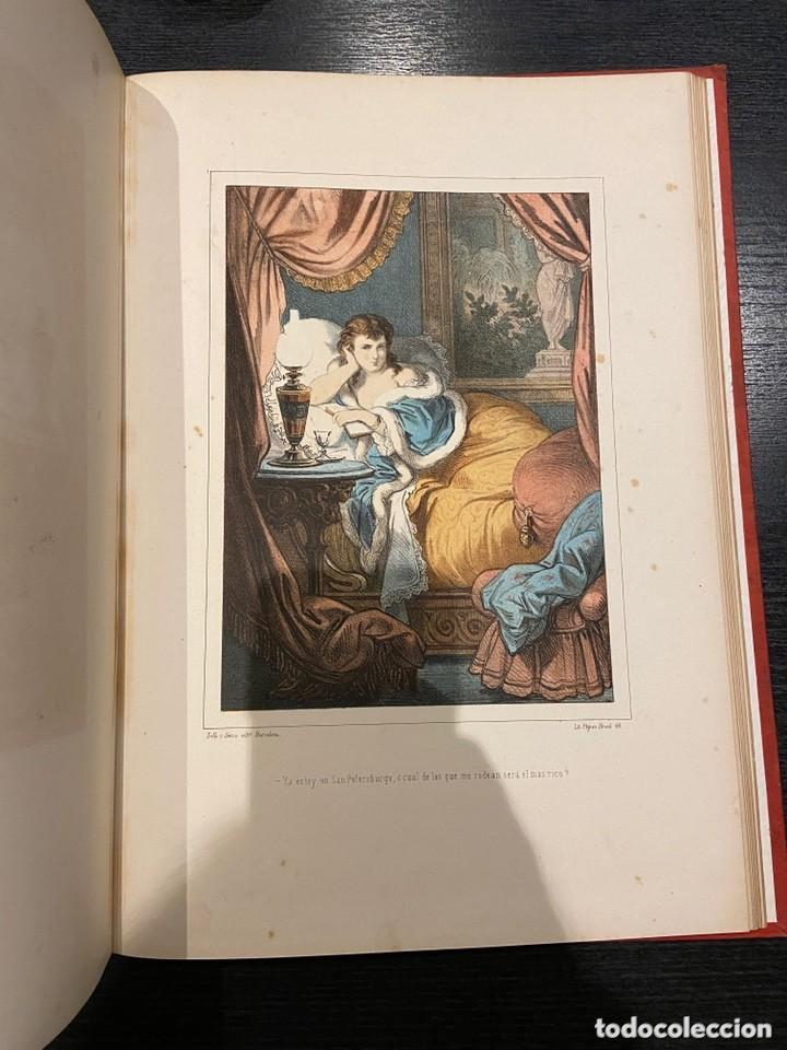 Libros antiguos: HISTORIA DE UNA MUJER Album cincuenta 50 cromos D.Eusebio Planas Barcelona 1881 Bella encuadernacion - Foto 17 - 226832255
