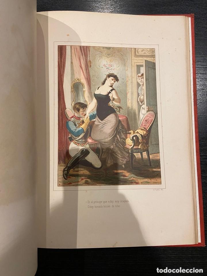 Libros antiguos: HISTORIA DE UNA MUJER Album cincuenta 50 cromos D.Eusebio Planas Barcelona 1881 Bella encuadernacion - Foto 21 - 226832255