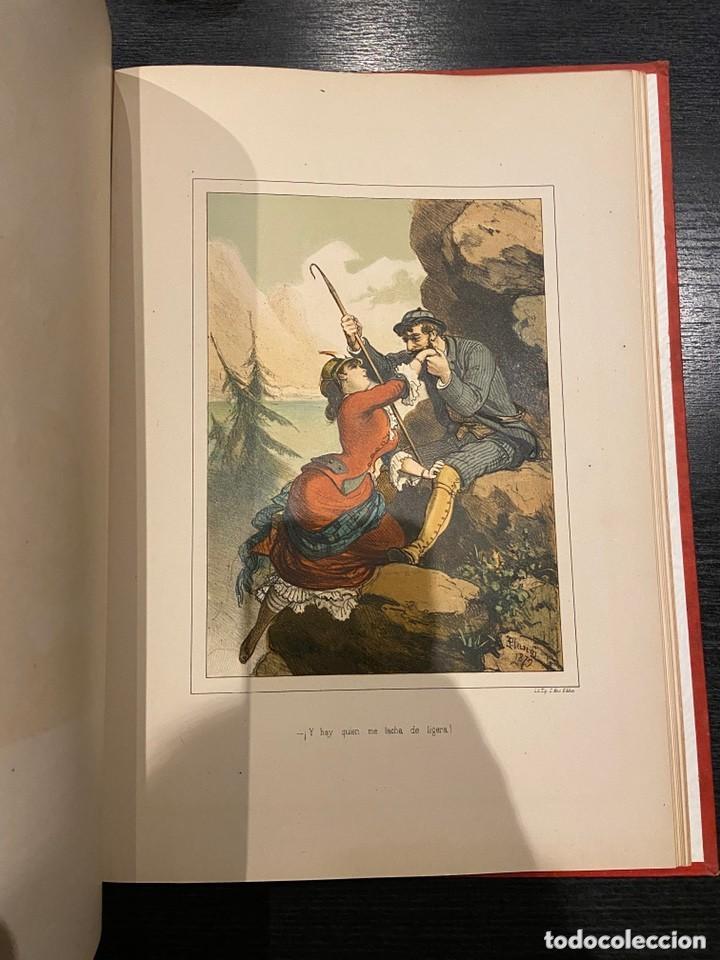 Libros antiguos: HISTORIA DE UNA MUJER Album cincuenta 50 cromos D.Eusebio Planas Barcelona 1881 Bella encuadernacion - Foto 22 - 226832255