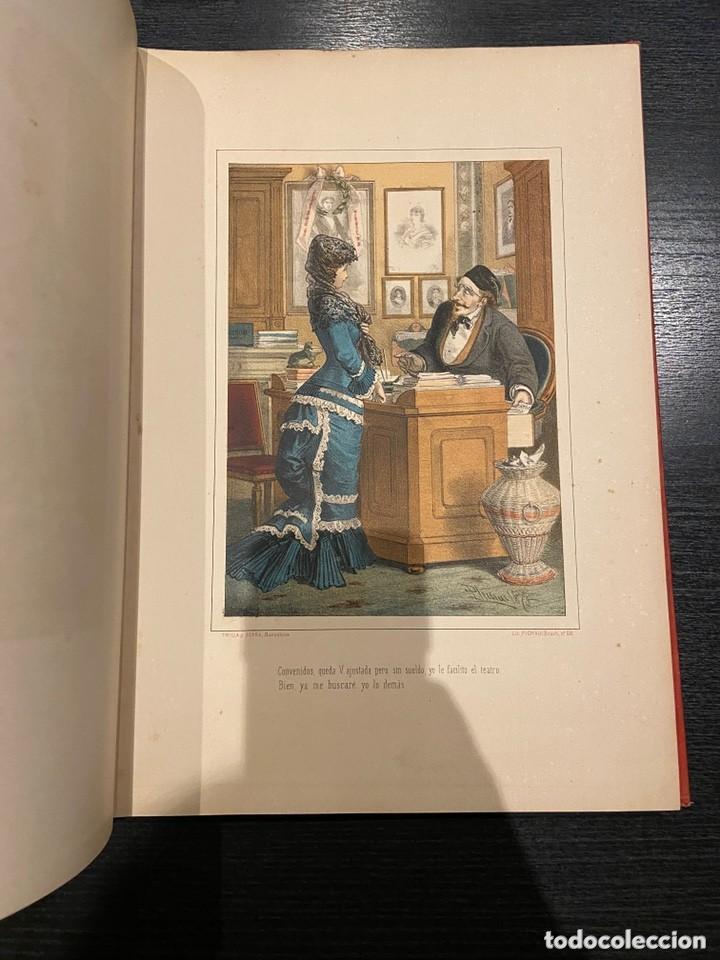 Libros antiguos: HISTORIA DE UNA MUJER Album cincuenta 50 cromos D.Eusebio Planas Barcelona 1881 Bella encuadernacion - Foto 26 - 226832255