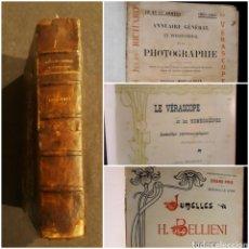 Libros antiguos: ANNUAIRE PHOTOGRAPHIE LE ROUX 19011902. VERASCOPE. JUMELLES BELLIENI VARIAS PUBLICACIONES FOTOGRÁFIA. Lote 235173150