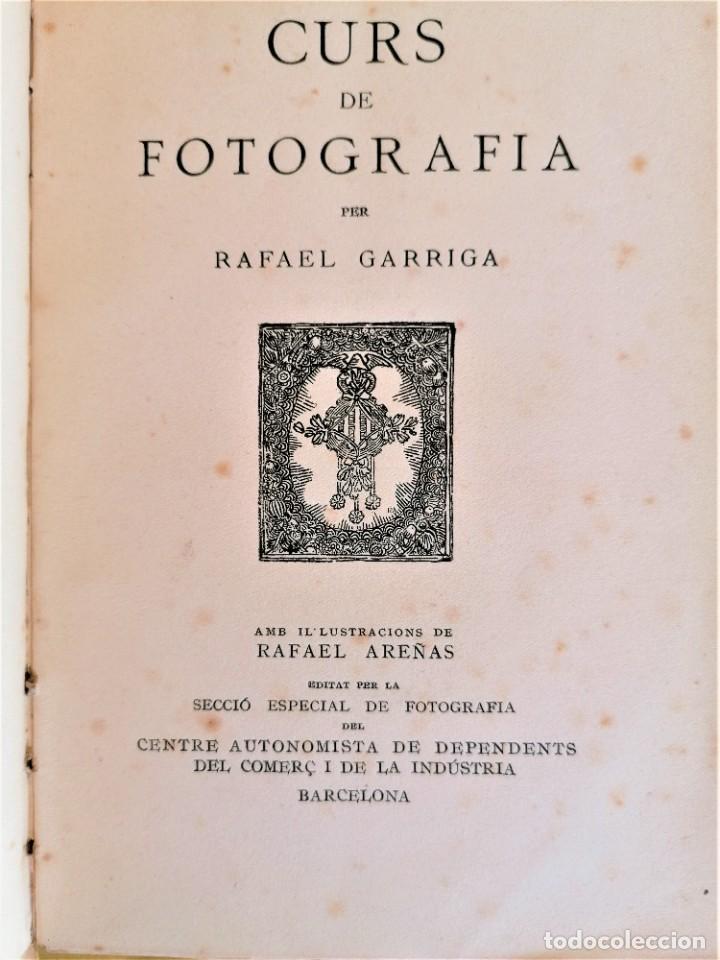 Libros antiguos: ANTIGUO LIBRO,CURSO DE FOTOGRAFIA,AÑO 1921,ENCUADERNACION EN PIEL DE COCODRILO,100 AÑOS.EN CATALAN - Foto 4 - 236317640