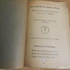 Livres anciens: CATÁLOGO REAL COMPAÑÍA ASTURIANA DE MINAS CANALONES Y TUBOS DE ZINC 1912 AVILÉS ASTURIAS. Lote 239357015