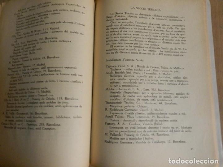 Libros antiguos: CATÁLOGO EXPOSICIÓ INTERNACIONAL DEL MOBLE I DECORACIÓ DINTERIORS DE BARCELONA 1923 EN CATALÀ - Foto 3 - 239358670