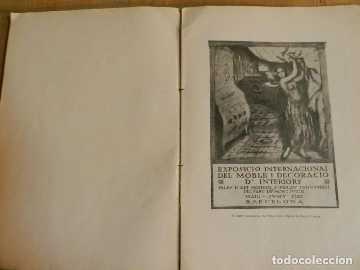 Libros antiguos: CATÁLOGO EXPOSICIÓ INTERNACIONAL DEL MOBLE I DECORACIÓ DINTERIORS DE BARCELONA 1923 EN CATALÀ - Foto 4 - 239358670