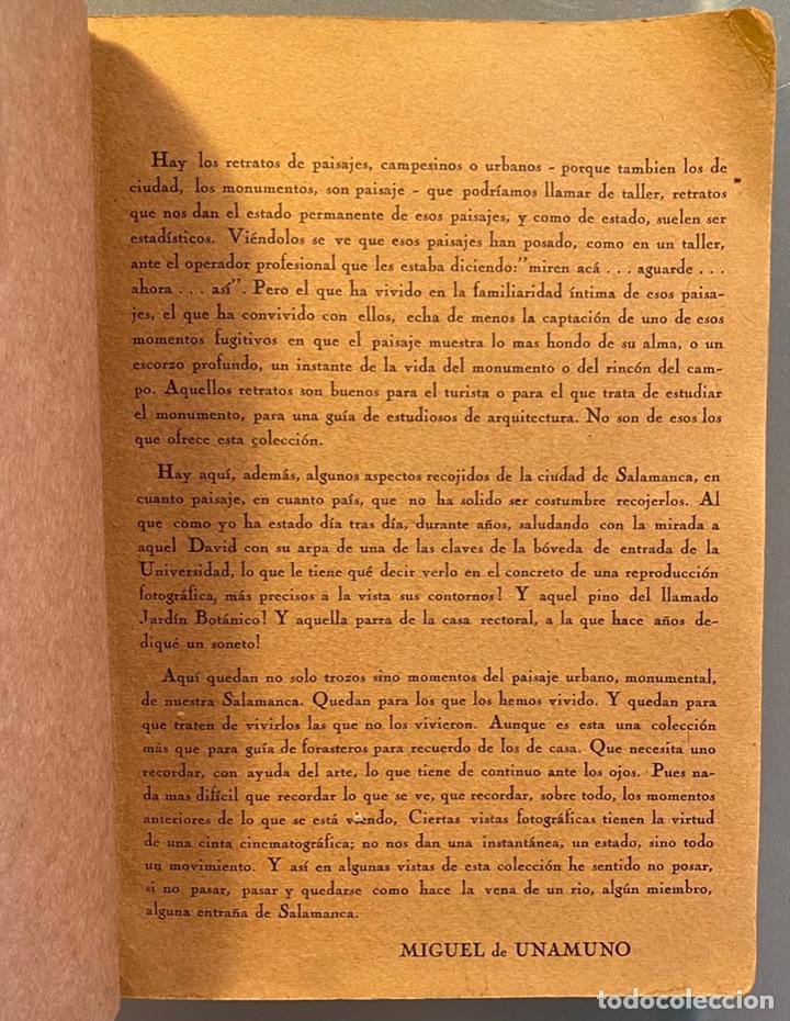Libros antiguos: José Suárez y Miguel de Unamuno. 50 Fotos de Salamanca. - Foto 2 - 239553185