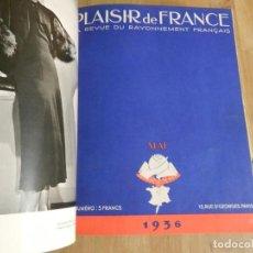 Libros antiguos: PLAISIR DE FRANCE 1936 COMPLETA 12 EJ ENC MEDIA PIEL MUEBLE MODA ARTE JOYA DISEÑO FOTOGRAFÍA FRANCÉS. Lote 240335180