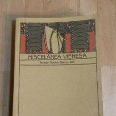 Libros antiguos: MISCELANEA VIENESA - TERESA ROCHA BARCO. Lote 240810815