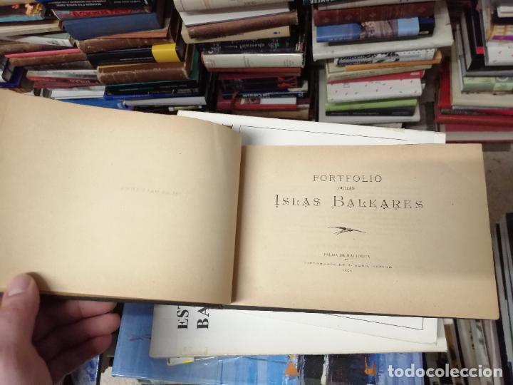 Libros antiguos: PORTFOLIO DE LAS ISLAS BALEARES ( MALLORCA , MENORCA , IBIZA ). TIPOGRAFÍA J. TOUS,EDITOR . 1900 . - Foto 2 - 241208895