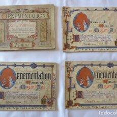 Libros antiguos: 4 ALBUMES ORNAMENTACIÓN DE LIBROS Y MANUSCRITOS DE LA EDAD MEDIA. ERNEST GUILLOT. 1890 - 1897. Lote 243498260