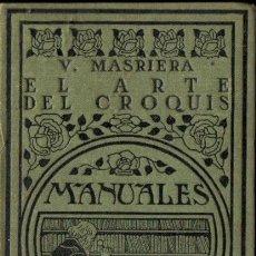 Libros antiguos: MASRIERA : EL ARTE DEL CROQUIS (MANUALES GALLACH, 1924). Lote 252413015