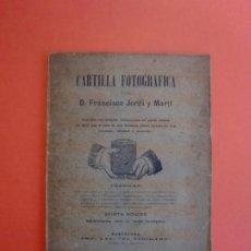 Libros antiguos: CARTILLA FOTOGRAFICA FCO. JORDI I MARTÍ 5ª EDIC. BARCELONA IMP. EL TIBIDABO PRINCIPIOS SIGLO XX. Lote 254038340