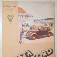 Livres anciens: (PERE CATALÀ PIC - FORTUNY - CASAS) - REVISTA FORD Nº 37. OCTUBRE 1935 - BARCELONA 1935 - MUY ILUSTR. Lote 254515195