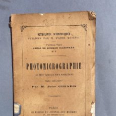 Libros antiguos: 1872 - PHOTOMICROGRAPHIE EN CENT TABLEAUX POUR PROJECTION, PAR M. JULES GIRARD - FOTOGRAFIA. Lote 259775850